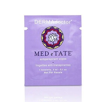 DERMAdoctor MED e TATE Antiperspirant Wipes (Unboxed)  30 Packettes