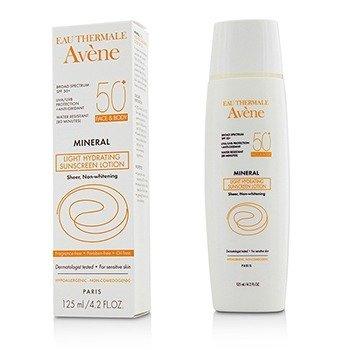 Avene Mineral Light Hydrating Sunscreen Lotion SPF 50 For Face & Body - For Sensitive Skin  125ml/4.2oz