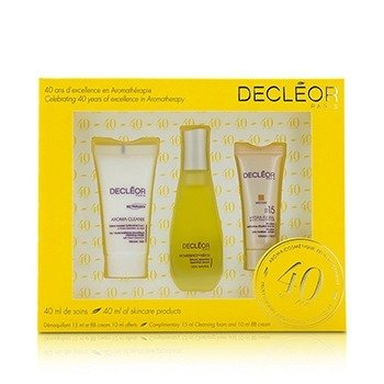 Decleor Travel Kit: Smoothing & Cleansing Mousse 15ml/0.5oz + Essential Serum 15ml/0.5oz + BB Cream SPF 15 10ml/0.33oz  3pcs