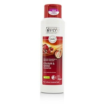 Lavera Organic Cranberry & Organic Avocado Colour & Shine Shampoo (For Colour-Treated Hair)  250ml/8.3oz