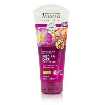 Lavera Organic Rose & Pea Protein Repair & Care Conditioner (For Dry, Damaged Hair)  200ml/6.6oz