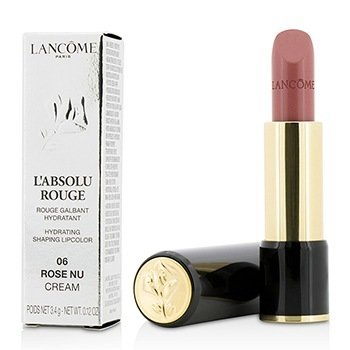 Lancome L' Absolu Rouge Hydrating Shaping Lipcolor - # 06 Rose Nu (Cream)  3.4g/0.12oz