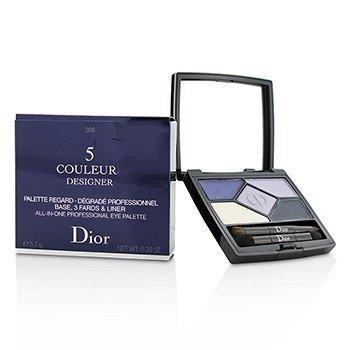 Christian Dior 5 Color Designer All In One Professional Eye Palette - No. 208 Navy Design  5.7g/0.2oz