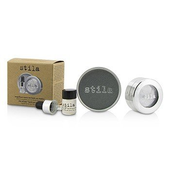 Stila Magnificent Metals Foil Finish Eye Shadow With Mini Stay All Day Liquid Eye Primer - Comex Platinum  2pcs