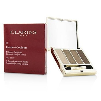 Clarins 4 Colour Eyeshadow Palette (Smoothing & Long Lasting) - #03 Brown  6.9g/0.2oz