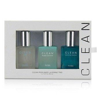 クリーン Clean Perfumer Layering Trio: Air + Shower Fresh + Warm Cotton  3x30ml/1oz