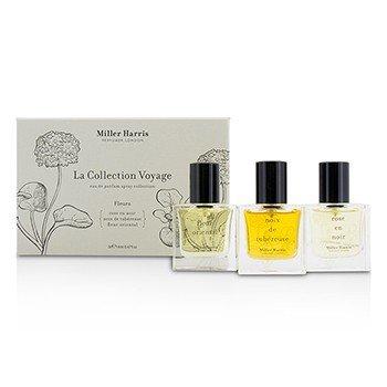 Miller Harris La Collection Voyage Fleurs Eau De Parfum Spray Collection: Fleur Oriental + Noix De Tubereuse + Rose En Noir  3x14ml/0.47oz