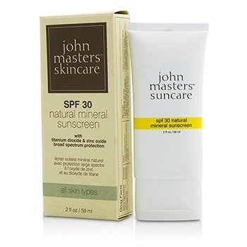 John Masters Organics Natural Mineral Sunscreen SPF30 - For All Skin Types (Exp. Date: 06/2017)  59ml/2oz