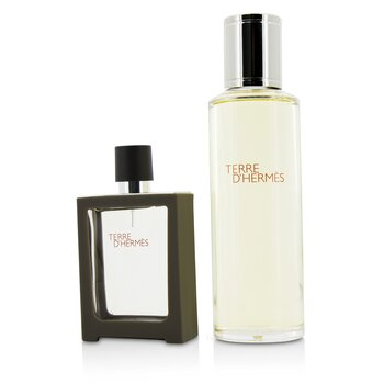 Hermes Terre D'Hermes Eau De Toilette Spray Recargable 30ml/1oz + Recarga 125ml/4.2oz  2pcs