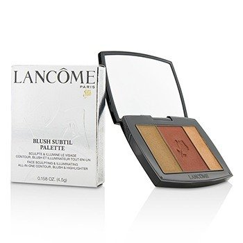 Lancôme Blush Subtil Palette (3x Colours Powder Blusher) - # 182 Rum Raisin (US Verison)  4.5g/0.158oz