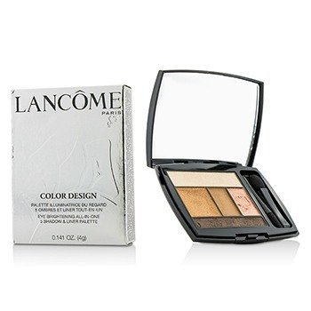 Lancome Color Design 5 Shadow & Liner Palette - # 102 Kissed By Gold (US Version)  4g/0.141oz