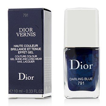 Christian Dior Dior Vernis Couture Colour Laca de Uñas Brillante Como Gel & de Larga Duración - # 791 Darling Blue  10ml/0.33oz