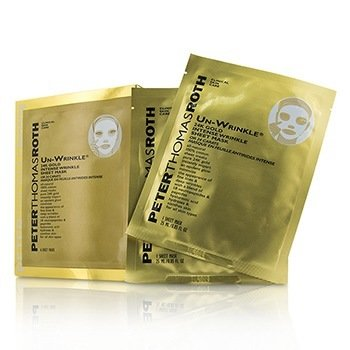 Peter Thomas Roth Un-Wrinkle 24k Gold Intense Wrinkle Sheet Mask (Box Slightly Damaged)  6x25ml/0.85oz
