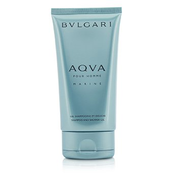 ブルガリ Aqva Pour Homme Marine Shampoo & Shower Gel (Unboxed)  150ml/5oz