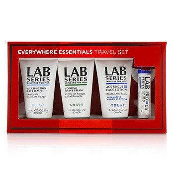 Aramis Lab Series Set de Viaje: Jabón Facial Multi Acción 30ml + Loción Facial 30ml + Crema de Afeitar 30ml + Bálsamo de Labios 4.3g  4pcs