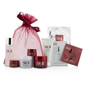 SK II Travel Set: Cleanser 20g +Clear Lotion 30ml + Mask 1pc + Stempower 15g + Deep Surge Ex 15g + Stempower Eye Cream 2x2.5g  7pcs