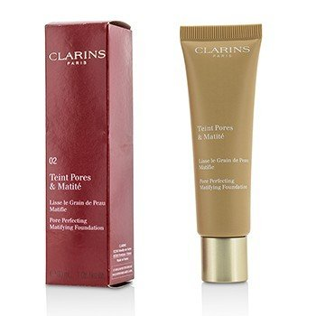 Clarins Podkład matujący Pore Perfecting Matifying Foundation - # 02 Nude Beige  30ml/1oz