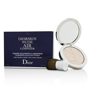 Christian Dior Diorskin Nude Air Luminizer Shimmering Sculpting Powder (With Kabuki Brush) - #002  6g/0.21oz