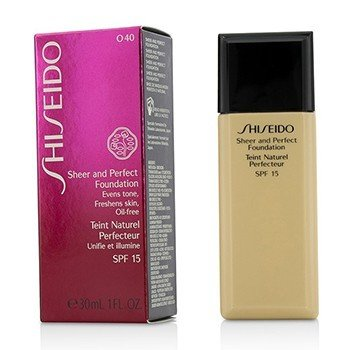 Shiseido Sheer & Perfect Foundation SPF 15 - # O40 Natural Fair Ochre  30ml/1oz