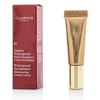 קלרינס Ombre Waterproof Eyeshadow Shimmering Cream Colour צללית אומברה קרם שימר עמידה במים- #01 Golden  7ml/0.2oz