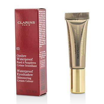 Clarins Ombre Waterproof Eyeshadow Shimmering Cream Colour - #03 Silver Taupe  7ml/0.2oz