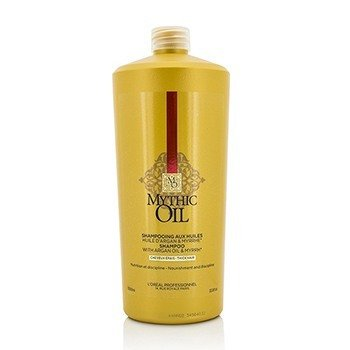 ロレアル Professionnel Mythic Oil Shampoo with Argan Oil & Myrrh (Thick Hair)  1000ml/33.8oz