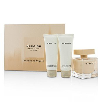 Narciso Rodriguez Narciso Poudree Coffret: Eau De Parfum Spray 90ml/3oz + Loción Corporal 75ml/2.5oz + Gel de Ducha 75ml/2.5oz  3pcs