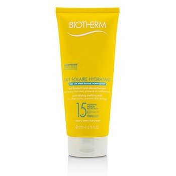 Biotherm Lait Solaire Hydratant Leche Anti-Secante SPF 15 - For Face & Body  200ml/6.76ml