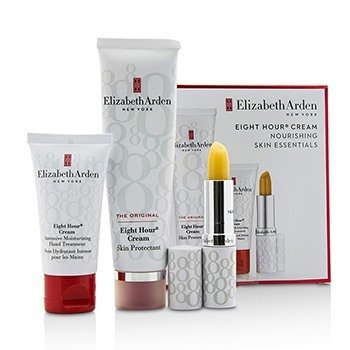 エリザベスアーデン Eight Hour Cream Nourishing Skin Essentials Set: Skin Protectant The Original+Hand Treatment+Lip Protectant Stick SPF 15  3pcs