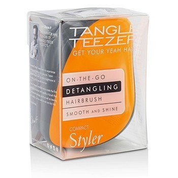 タングルティーザー Compact Styler On-The-Go Detangling Hair Brush - # Orange Flare  1pc