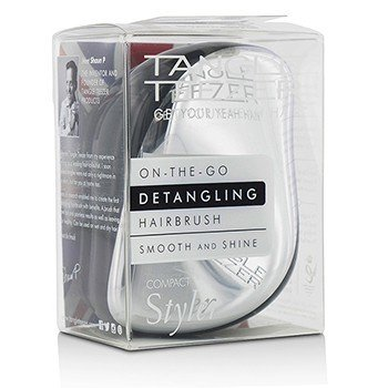Tangle Teezer Compact Styler On-The-Go Detangling Hair Brush - # Starlet Silver  1pc
