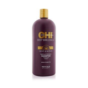 CHI Deep Brilliance Olive & Monoi Optimum Moisture Shampoo  946ml/32oz