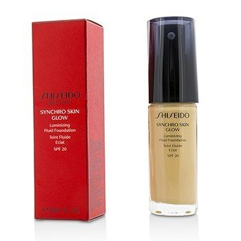 Shiseido Synchro Skin Glow Luminizing Fluid Foundation SPF 20 - # Golden 3  30ml/1oz