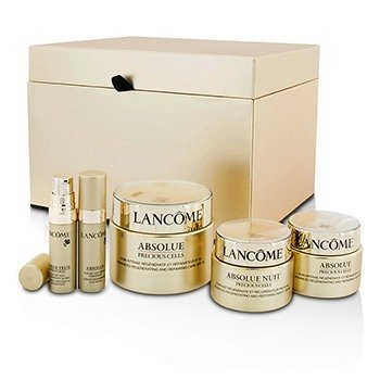 Lancome Absolue Precious Cells Set: Repairing Care SPF 15 50ml&15ml + Night Cream 15ml + Oleo-Serum 5ml + Eye Concentrate 5ml  5pcs