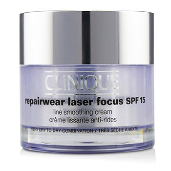 Clinique Repairwear Laser Focus Line Smoothing Cream SPF 15 - Very Dry To Dry Combination  50ml/1.7oz