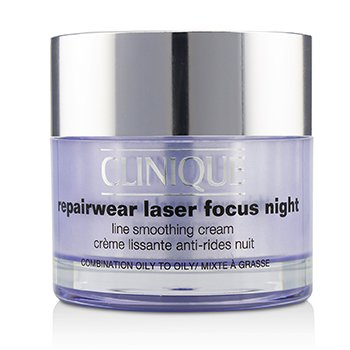 クリニーク Repairwear Laser Focus Night Line Smoothing Cream - Combination Oily To Oily  50ml/1.7oz