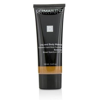 Dermablend Leg and Body Make Up Buildable Liquid Body Foundation Sunscreen Broad Spectrum SPF 25 - #Deep Golden 70W  100ml/3.4oz