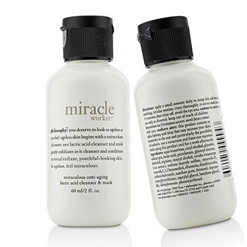 Philosophy Miracle Worker Miraculous Anti-Aging Lactic Acid Cleanser & Mask Duo Pack (Travel Size)  2x60ml/2oz
