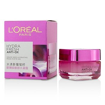 L'Oreal Hydrafresh Anti-Ox Grape Seed Hydrating Mask-In-Eye Gel  15ml/0.5oz