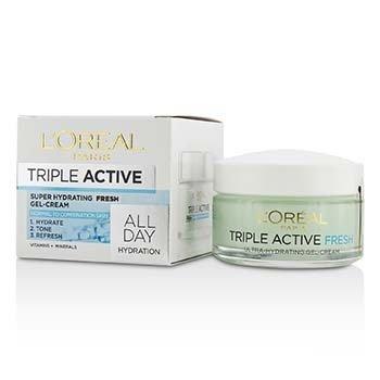 L'Oreal Nawilżający żel-krem dla skóry normalnej po mieszaną Triple Active Super Hydrating Fresh Gel-Cream  50ml/1.7oz