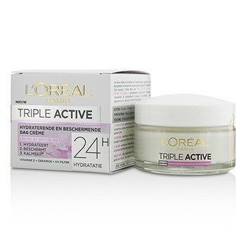 歐萊雅 Triple Active Multi-Protective Day Cream 24H Hydration - For Dry/ Sensitive Skin  50ml/1.7oz
