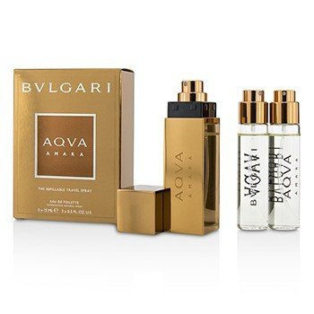 Bvlgari Aqva Amara The Refillable Eau De Toilette Travel Spray  3x15ml/0.5oz
