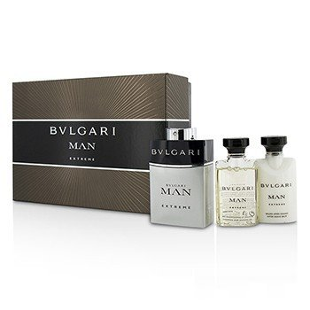 ブルガリ Man Extreme Coffret: Eau De Toilette Spray 60ml/2oz + After Shave Balm 40ml/1.35oz + Shower Gel 40ml/1.35oz  3pcs