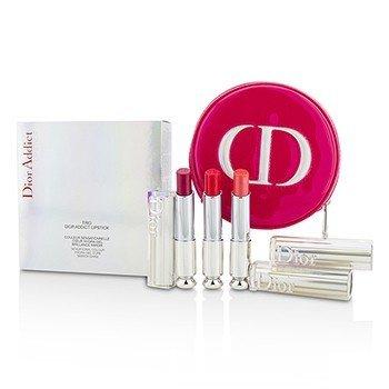 迪奥  Dior Addict Hydra Gel Core Mirror Shine Lipstick Trio Set  3pcs+1case