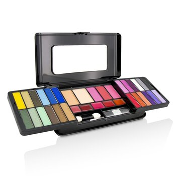 Cameleon MakeUp Kit Deluxe G2215 (24x Eyeshadow, 3x Blusher, 2x Pressed Powder, 5x Lipgloss, 2x Applicator)  -