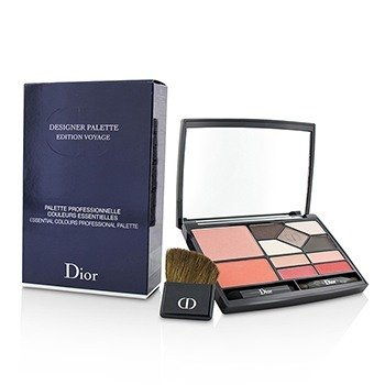 迪奥  Designer Palette Edition Voyage (2x Blush, 5x Eyeshadow, 4x Lip Color, 3x Applicator)  18.2g/0.59oz