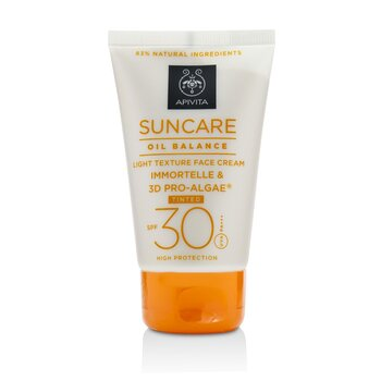 Apivita Suncare Oil Balance Light Texture Face Cream SPF 30 -Tinted-  50ml