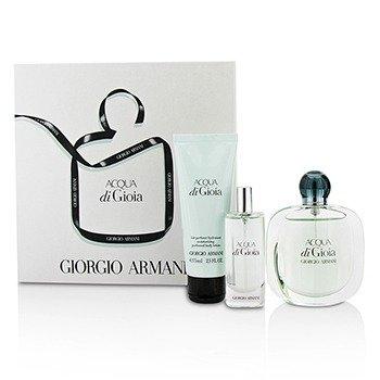 Giorgio Armani Acqua Di Gioia Coffret: Eau De Parfum Spray 50ml/1.7oz + Eau De Parfum Spray 15ml/0.5oz + Loción Corporal 75ml/2.5oz  3pcs