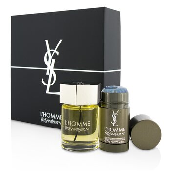 イヴサンローラン L'Homme Coffret: Eau De Toilette Spray 100ml/3.3oz + Deodorant Stick 75g/2.6oz  2pcs