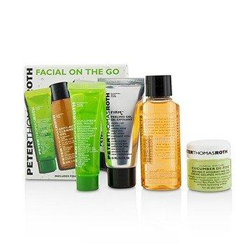פיטר תומס רות' Facial On The Go Kit: Cucumber De-Tox Bouncy Hydrating Gel 15ml + Cucumber Gel Masque 14ml + Anti Aging Cleansing Gel 30ml + FirmX Peeling Gel 15ml  4pcs